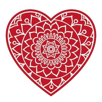 Doodle coração floral
