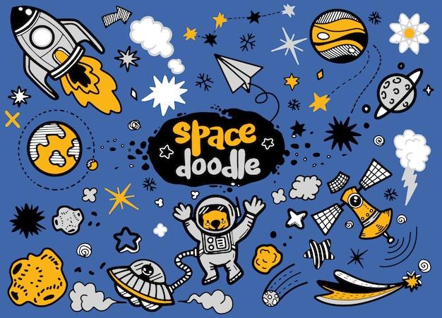 Doodle de astronomia e espaço