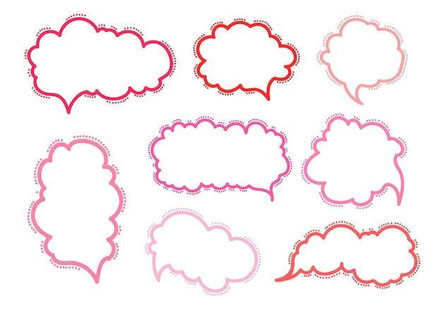 Doodle de balões de fala