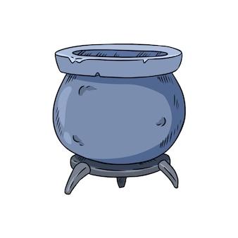 Doodle de caldeirão mágico
