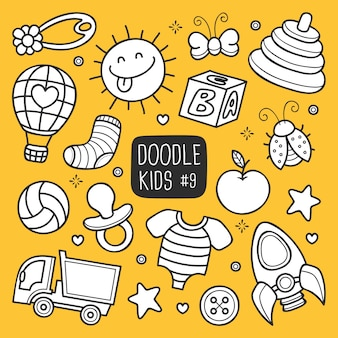Doodle de crianças desenhadas de mão