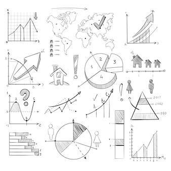 Doodle de demografia de população