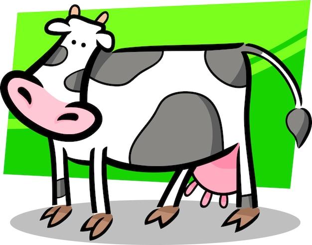 Doodle de desenho de vaca de fazenda
