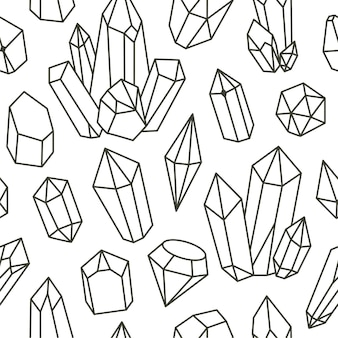 Doodle de diamante padrão uniforme