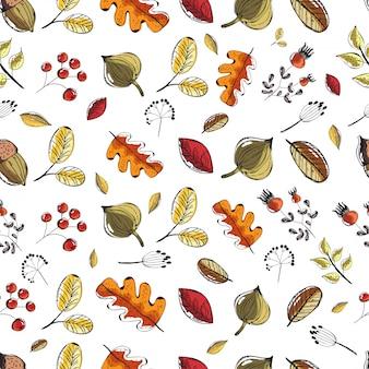 Doodle de elemento bonito outono.