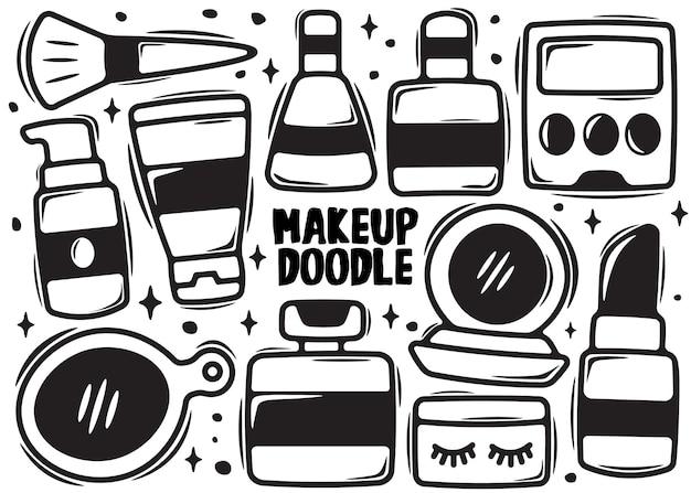 Doodle de elemento de maquiagem