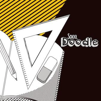 Doodle de escola dos desenhos animados