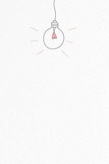 Doodle de lâmpada