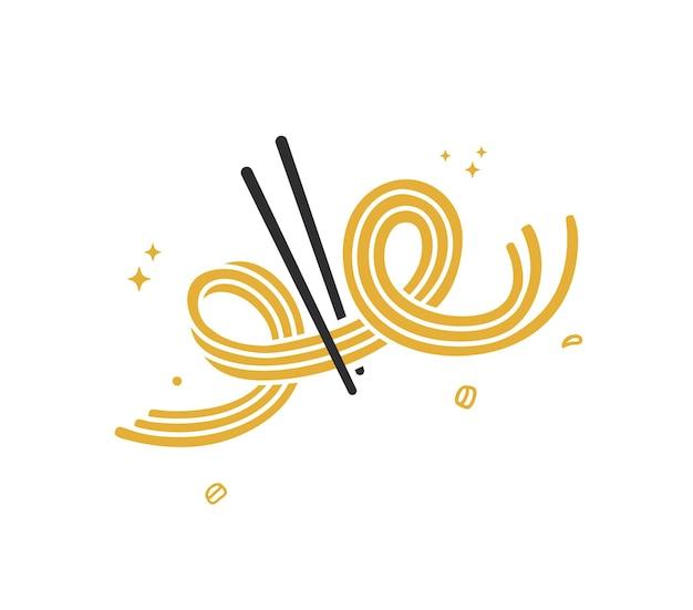 Doodle de macarrão elástico delicioso