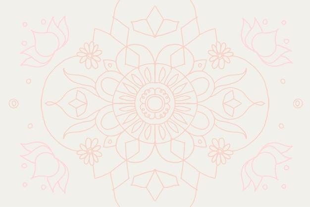 Doodle de mandala indiano pastel diwali