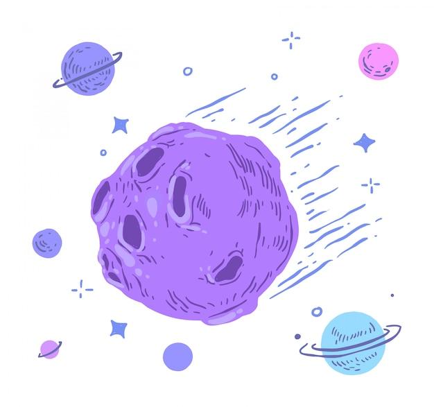 Doodle de meteorito