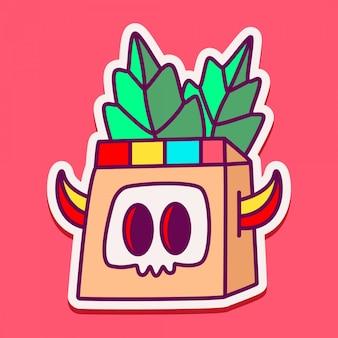 Doodle de personagem de monstro