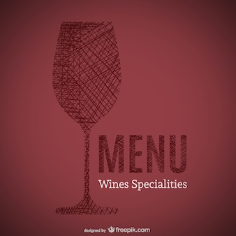Doodle de vinhos especialidades arte de menu