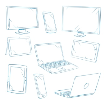 Doodle dispositivos digitais