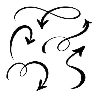 Doodle estilo de marcador feito à mão.