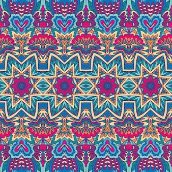 Doodle geométrico vetor decorativo abstrato colorido padrão ornamental sem emenda