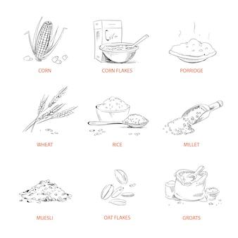 Doodle grumos cereais