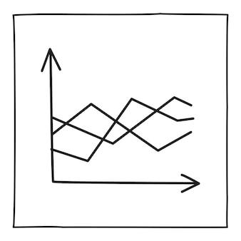 Doodle ícone gráfico gráfico ou logotipo, desenhado à mão com uma linha preta fina. isolado em um fundo branco. ilustração vetorial