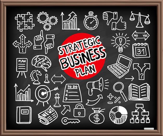 Doodle ícones de negócios