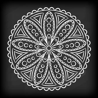 Doodle mandala flower
