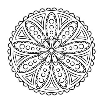 Doodle mandala para colorir