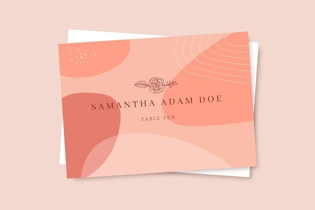 Doodle monocolor de cartões de casamento
