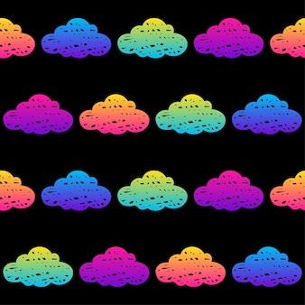 Doodle nuvens sem costura de fundo. amostra de nuvens abstratas para cartão, convite, cartaz, têxtil, impressão de bolsa, publicidade de oficina moderna, camiseta etc.