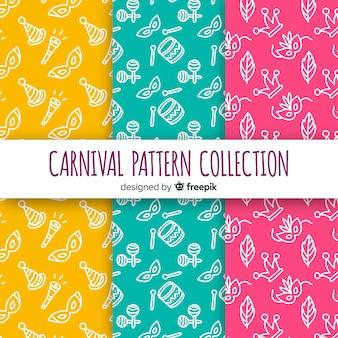 Doodle padrão de carnaval brasileiro