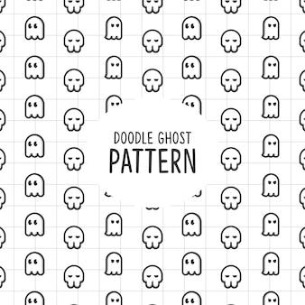 Doodle padrão de fantasma