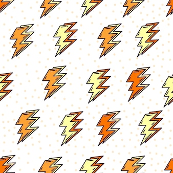 Doodle padrão de raio