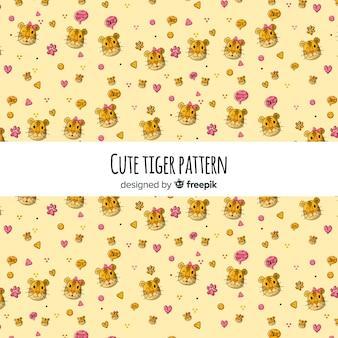 Doodle padrão de tigre