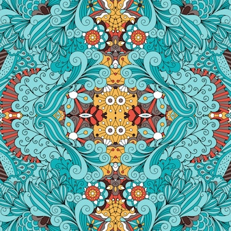 Doodle padrão ornamental com redemoinhos
