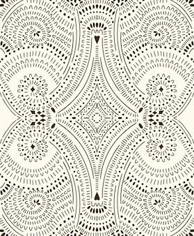 Doodle padrão sem emenda abstrato