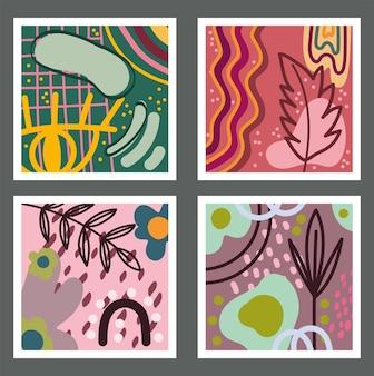 Doodle padrões modernos sem costura contemporâneos, perfeitos para ilustração de estampas têxteis