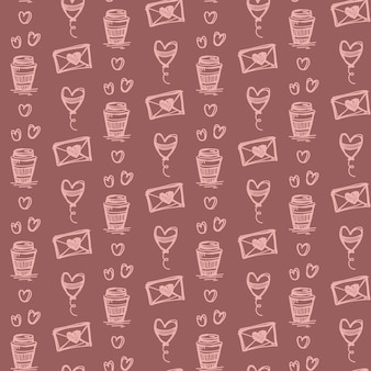 Doodle seamless pattern design background