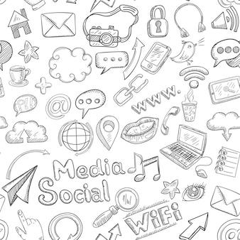 Doodle social sem costura