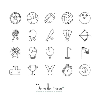 Doodle sports icons.
