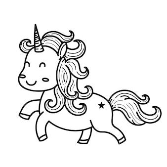 Doodles bonitos do monstro do unicon