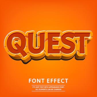 Dope efeito de texto 3d para o jogo do logotipo ou menu