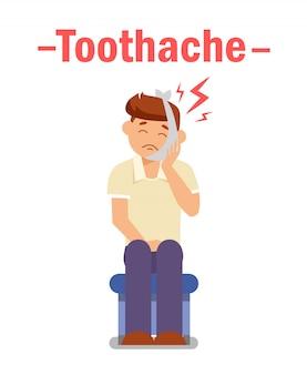Dor de dente, conceito de poster de problema dental