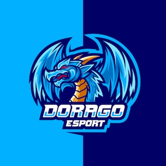 Dorago para design de logotipo esport