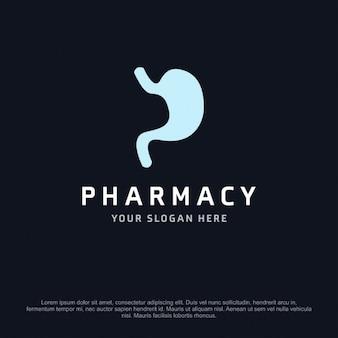 Dos comprimidos logotipo da farmácia