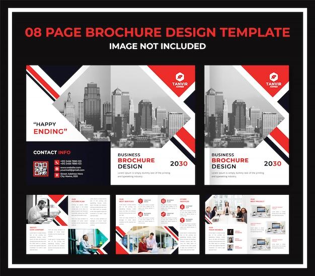 Dossiê de catálogo de brochura comercial de 8 páginas