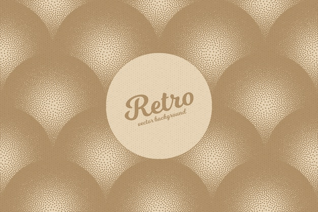 Dotwork retro abstract vector background