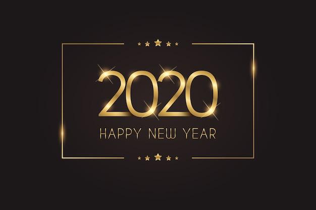 Dourado, ano novo, 2020, fundo, dourado, ano novo, 2020, fundo, dourado, ano novo, 2020, papel de parede