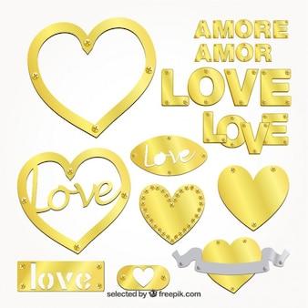 Dourados emblemas amor