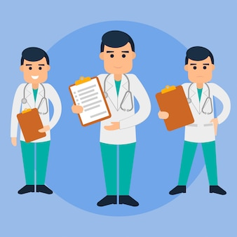 Doutor, apartamento, ilustração