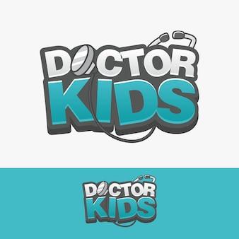 Doutor, crianças, logotipo