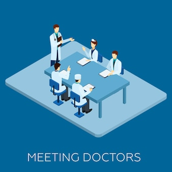 Doutor, reunião, conceito