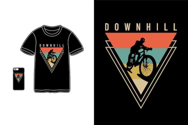 Downhill, mercadoria de camisetas